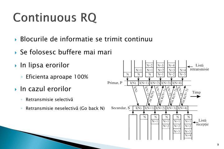 Continuous RQ
