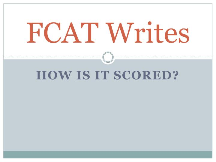 fcat essay rubric How to write an (outstanding, 5-to 6-point on fcat rubric) expository essay based on a manual written by rob russo, crhs  this preview has intentionally blurred sections.