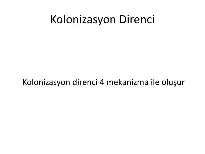 Kolonizasyon Direnci