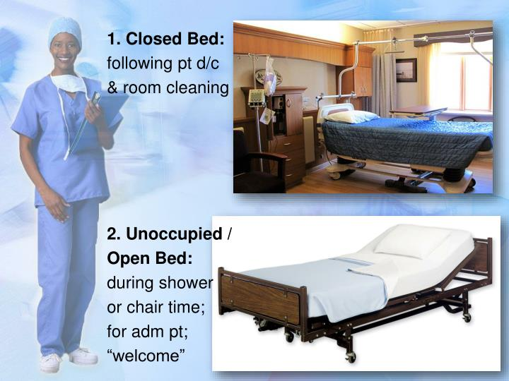 1. Closed Bed: