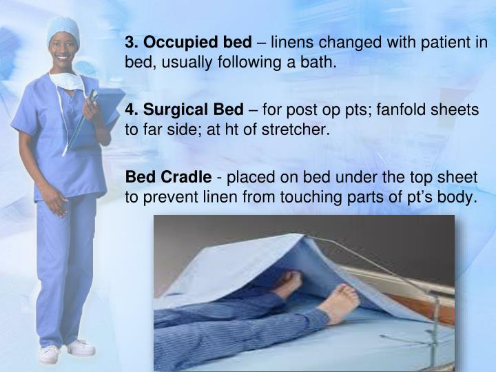 3. Occupied bed