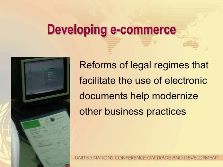 Developing e-commerce