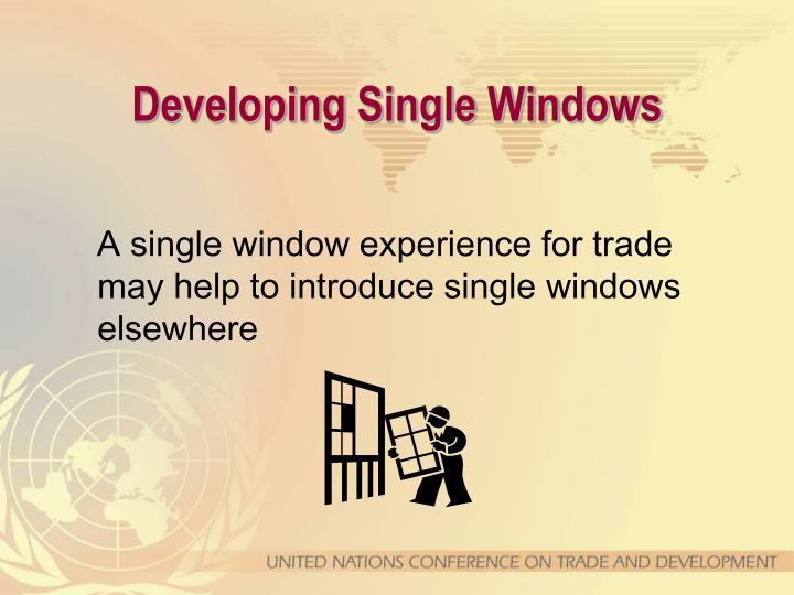 Developing Single Windows