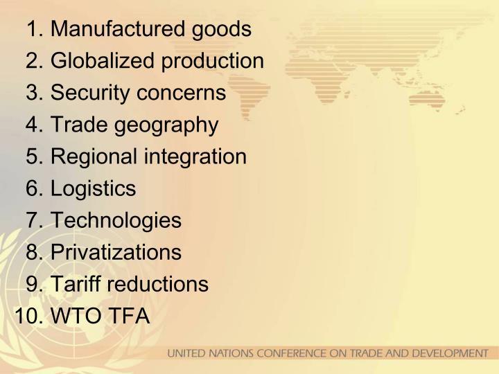 1. Manufactured goods