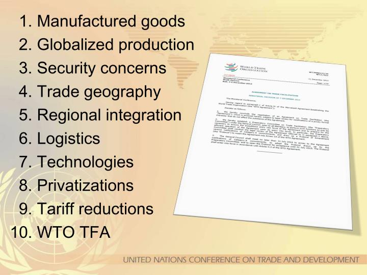 1. Manufactured goods