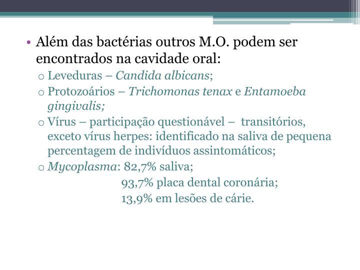 Além das bactérias outros
