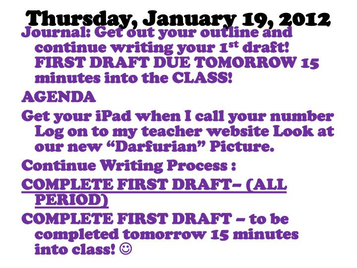 Thursday, January 19, 2012