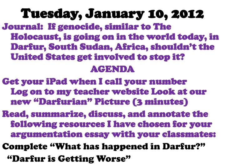 Tuesday, January 10, 2012