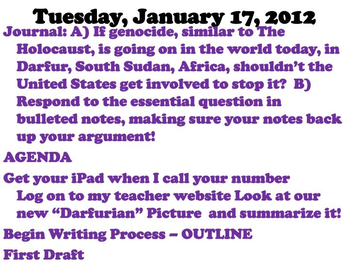 Tuesday, January 17, 2012