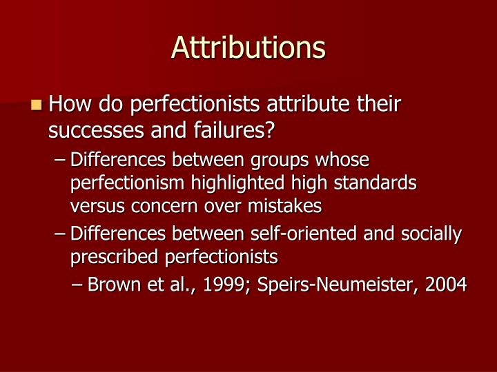 Attributions