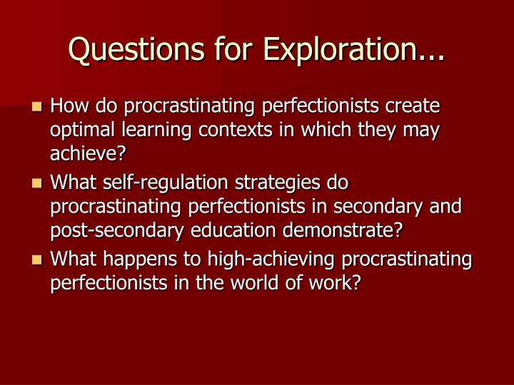 Questions for Exploration...