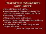 responding to procrastination action planning