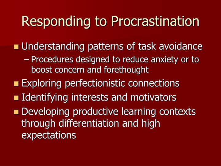 Responding to Procrastination