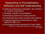 responding to procrastination reflection and self understanding