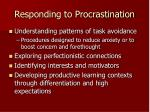 responding to procrastination