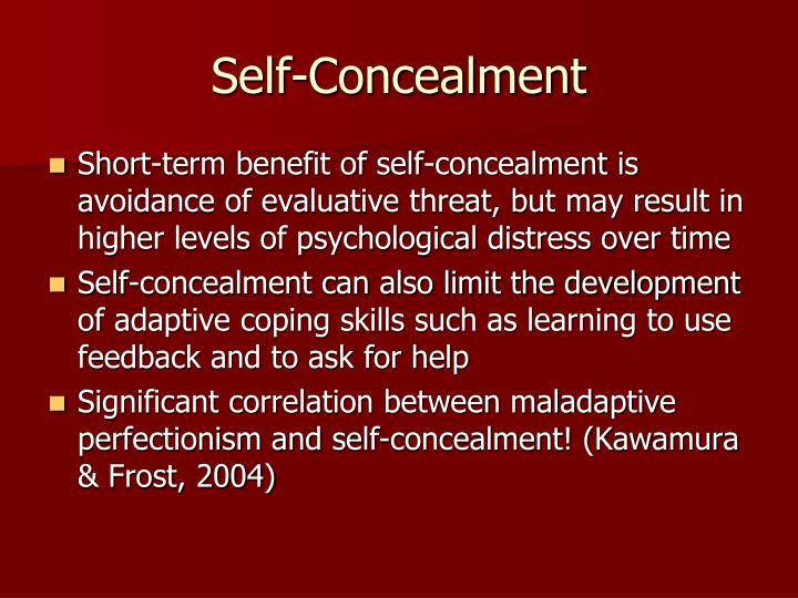 Self-Concealment