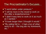 the procrastinator s excuses
