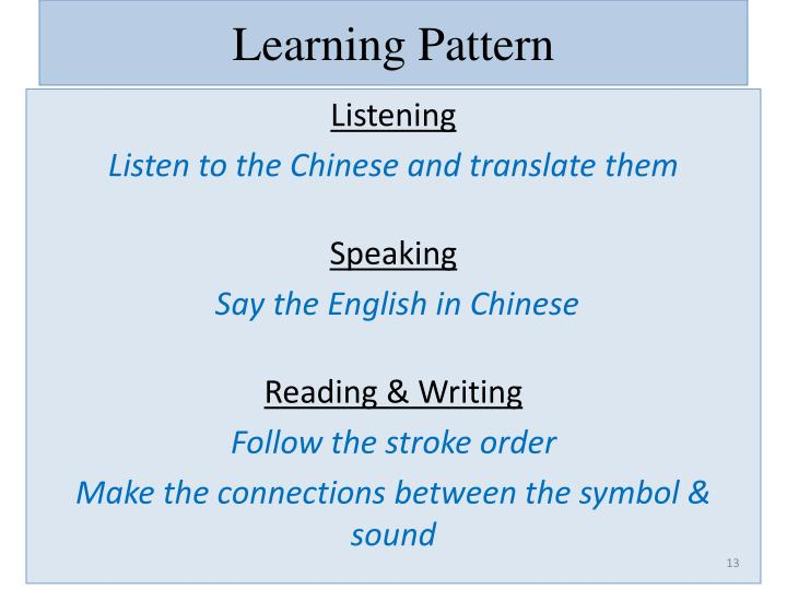 Learning Pattern