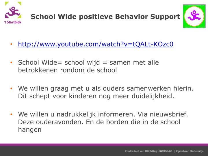 School Wide positieve