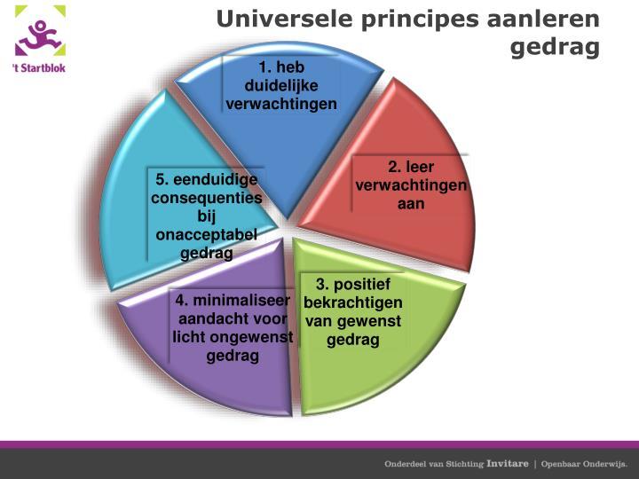 Universele principes aanleren