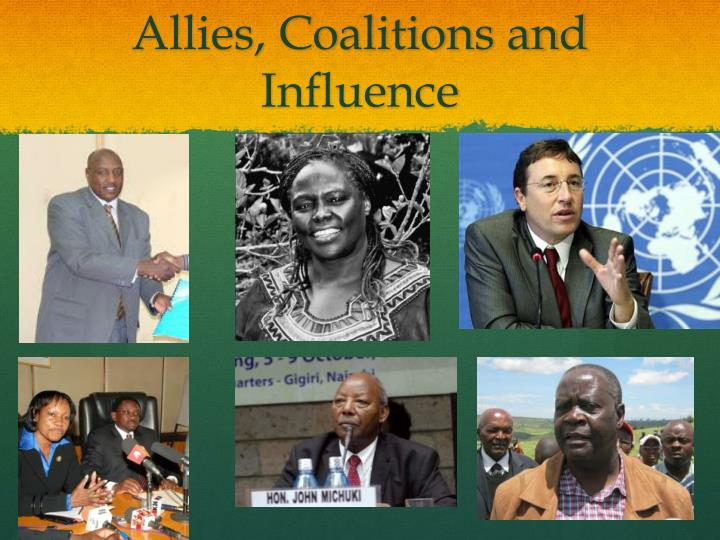 Allies, Coalitions and Influence