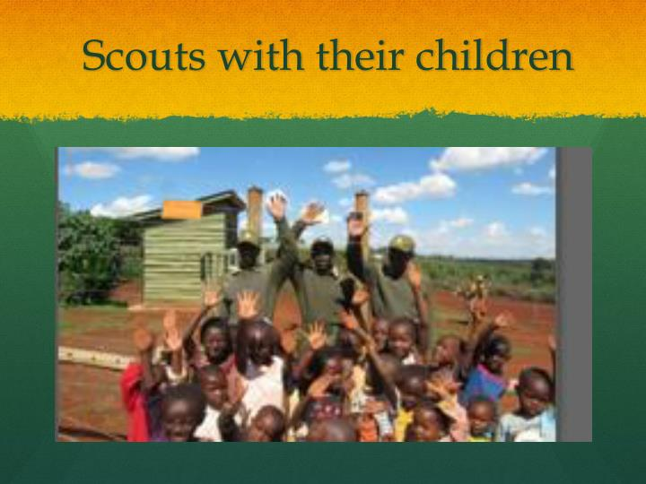 Scouts with their children