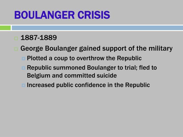 BOULANGER CRISIS