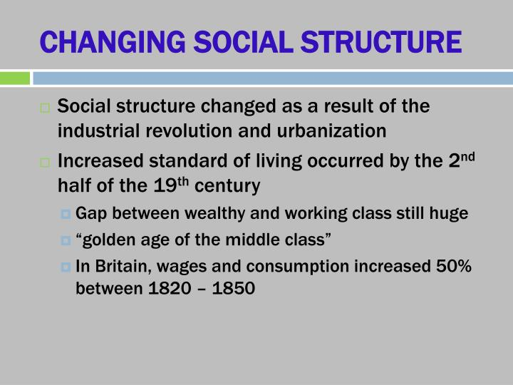 CHANGING SOCIAL STRUCTURE