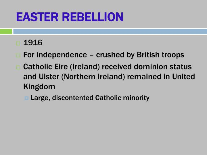 EASTER REBELLION