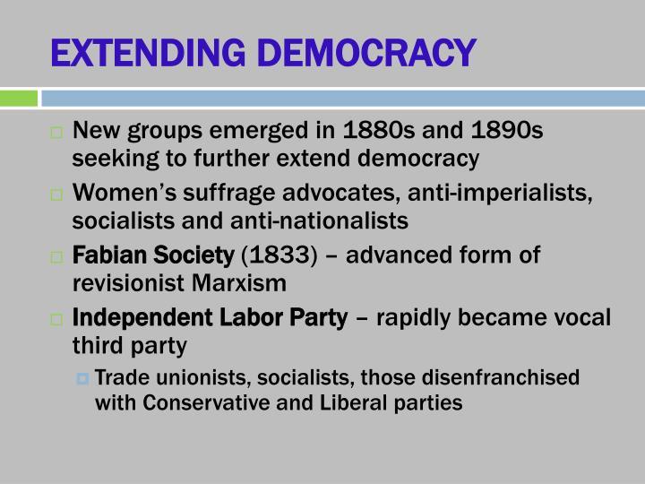 EXTENDING DEMOCRACY