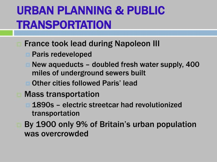 URBAN PLANNING & PUBLIC TRANSPORTATION