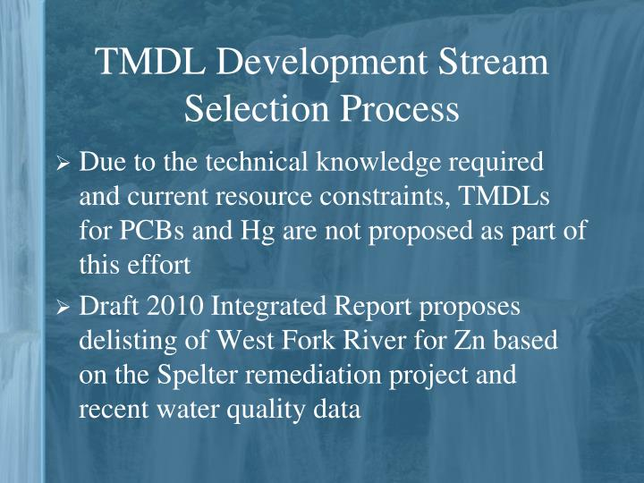 TMDL Development Stream