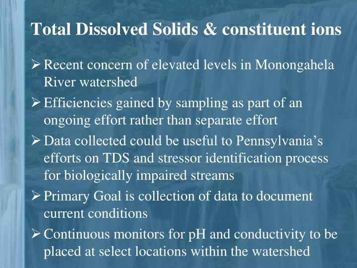 Total Dissolved Solids & constituent ions