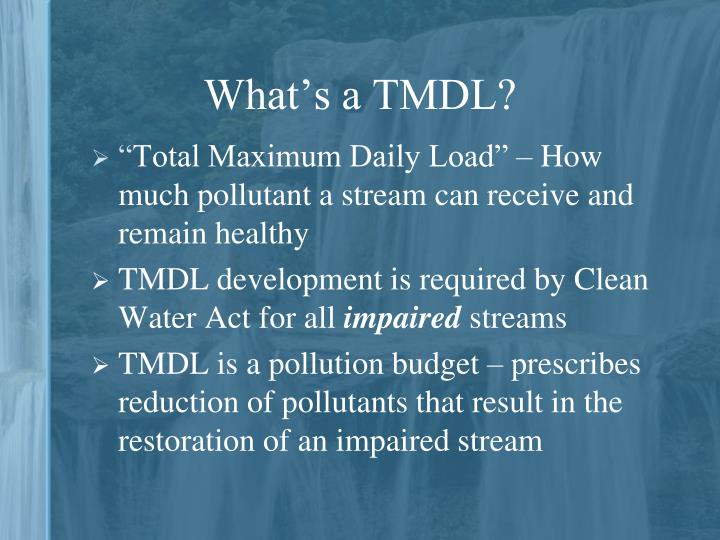 What's a TMDL?