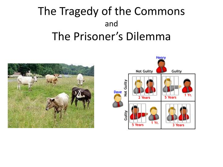 The tragedy of the commons and the prisoner s dilemma
