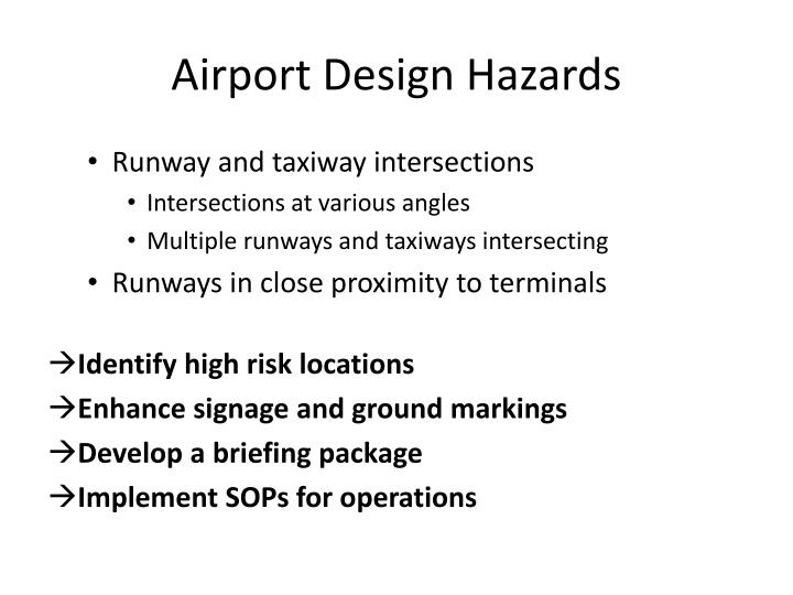 Airport Design Hazards