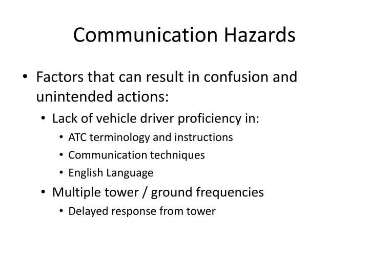 Communication Hazards
