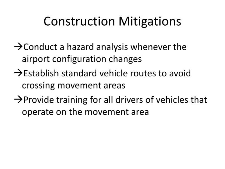 Construction Mitigations