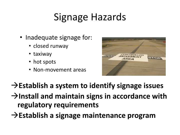 Signage Hazards