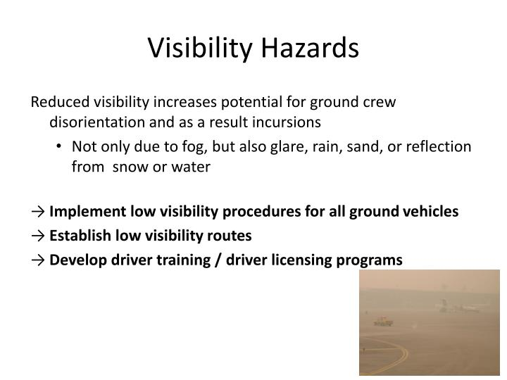 Visibility Hazards