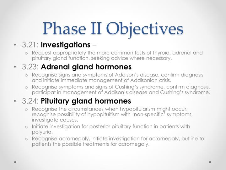 Phase II Objectives