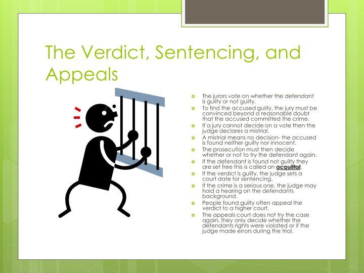 The Verdict, Sentencing, and Appeals