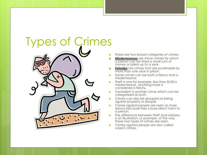 Types of Crimes
