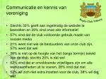 communicatie en kennis van vereniging