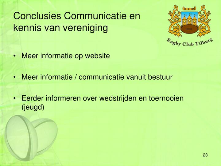Conclusies Communicatie en