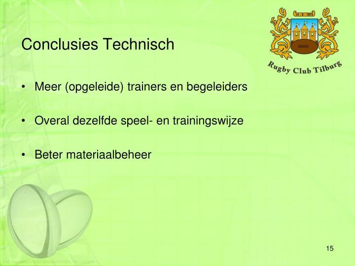 Conclusies Technisch