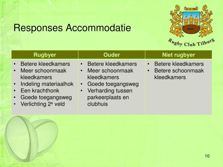 Responses Accommodatie