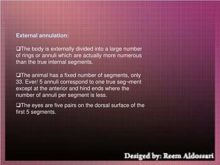 External annulation: