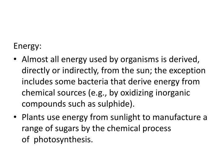 Energy:
