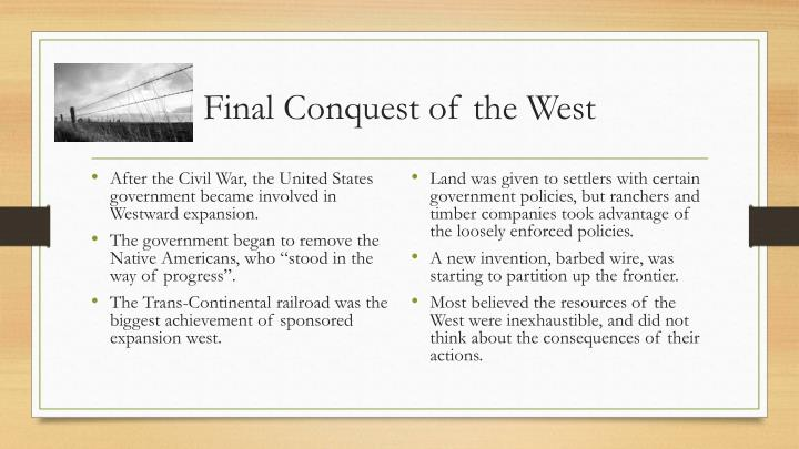 Final Conquest of the West